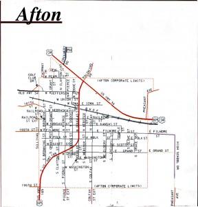 Afton map